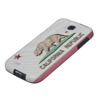 Brush Metal California Flag Galaxy S4 Case