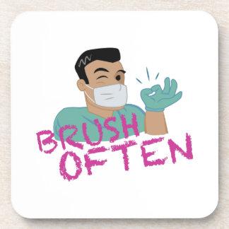 Brush Often Dentist Coasters