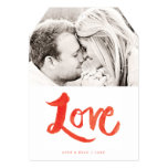 Brush Painted Love Valentine's Day Photo Card