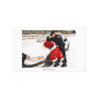 "Brush Painting ""Bad Santa"" Canvas Print"
