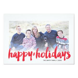 Brush Script Holiday Photo Card