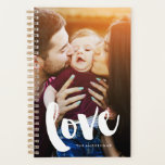 "Brush Script &quot;Love&quot; Overlay Photo Planner<br><div class=""desc"">Personalized full bleed photo and monogram design.</div>"