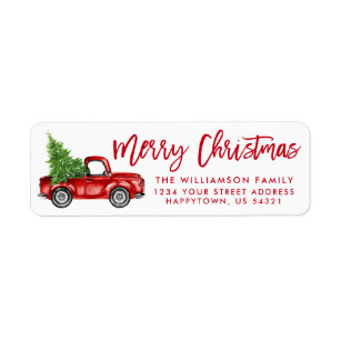 or Clear Labels Silent Night Kraft Custom Return Address Stickers Green Red or Blue Design Christmas Address Labels White