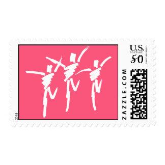 Brush Stroke Dance Trio Stamp in Dark Pink