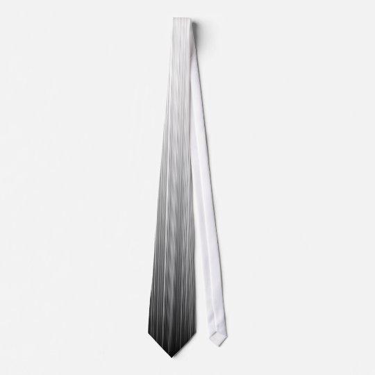 Brush Stroke Fade B&W Neck Tie