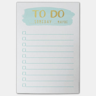 Brush Stroke | Procrastinator's To Do List Post-it Notes