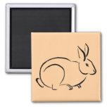 Brush stroke rabbit fridge magnets