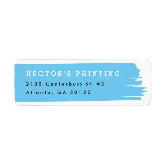 Brush stroke return address label