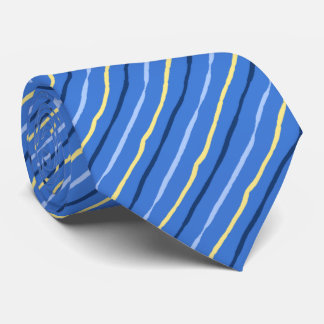 Brush Stroke Striped Soft Blue Wedding Two-sided Neck Tie