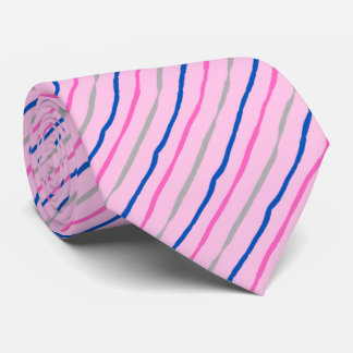 Brush Stroke Striped Soft Pink Wedding Two-sided Neck Tie