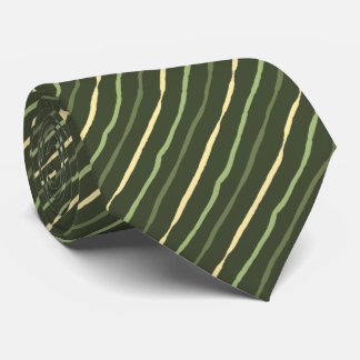 Brush Stroke Striped Tonal Olives Two-sided Tie