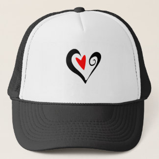 Brush Stroked Heart Valentines Day Design Trucker Hat