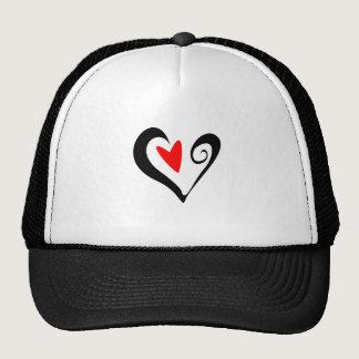 Brush Stroked Heart Valentines Day Design Trucker Hat