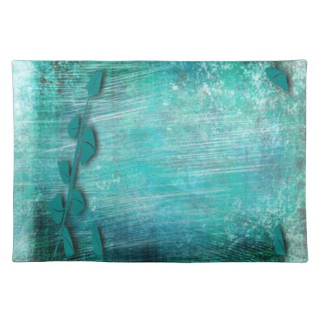Brush Strokes Abstract Teal and Turquoise Placemat