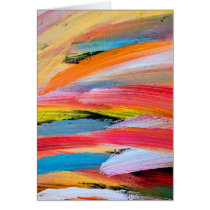 Brush Strokes Blank Greeting Card