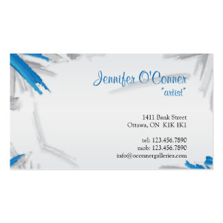 Brush Strokes - Blue Business Card