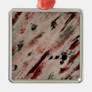 brush strokes - dawn michelle art metal ornament