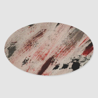 brush strokes - dawn michelle art oval sticker