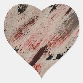 brush strokes - dawn michelle art heart sticker