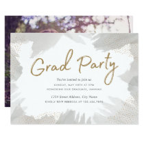 Brush Strokes Grad Party Invite