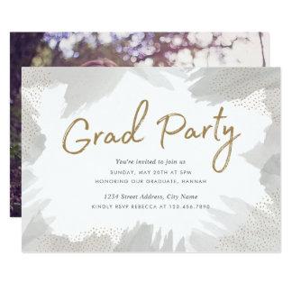 Brush Strokes Grad Party Invite