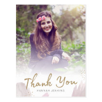 Brush Strokes Grad Thank You Postcard