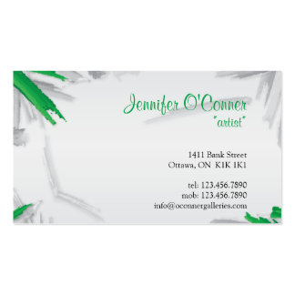Brush Strokes - Green Business Card