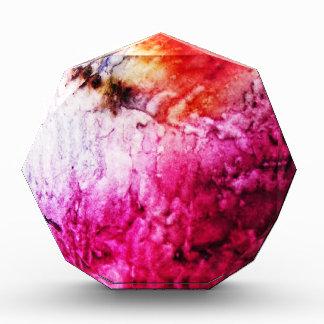 Brush Strokes Paint Creative Digital Bright  Pink Acrylic Award
