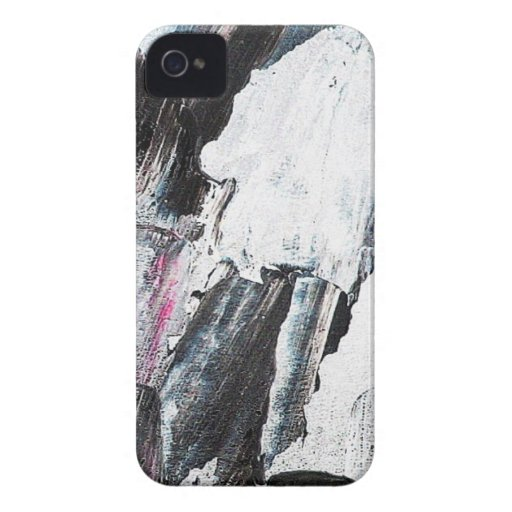 Brush Strokes Paint Creative Digital Bright  Pink iPhone 4 Case-Mate Cases