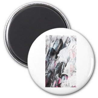 Brush Strokes Paint Creative Digital Bright  Pink Magnet