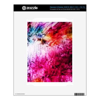 Brush Strokes Paint Creative Digital Bright  Pink NOOK Decals