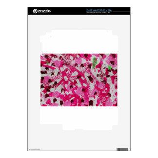 Brush Strokes Paint Creative Digital Bright  Pink Skins For iPad 2