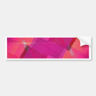 Brush Strokes Paint Creative Looks Pink Rusty Anti Bumper Sticker