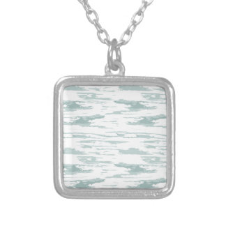 Brush strokes pattern 10 silver plated necklace