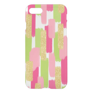 Brush Strokes | Pink and Gold Glitter iPhone 7 Case