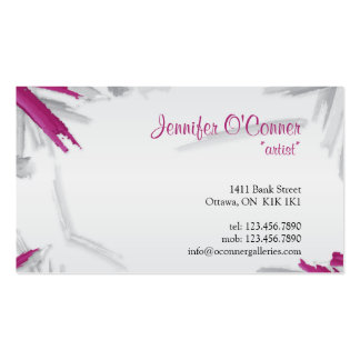 Brush Strokes - Purple Business Card