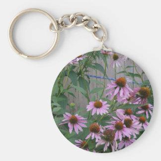 Brush Strokes Purple Coneflowers Key Chain