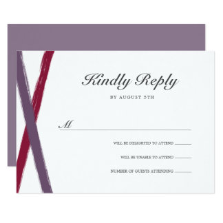 Brush Strokes RSVP Card | Lavender Berry
