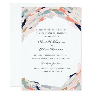 Brush Strokes Wedding Invitation
