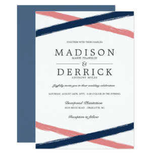 navy and coral wedding invitations coral wedding invitations amp announcements zazzle 6112