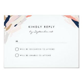 Brush Strokes Wedding Reply Card