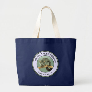 Brush tailed possum large tote bag