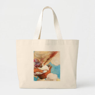 Brush the Cobwebs From The Sky Large Tote Bag