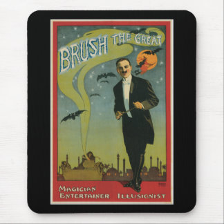 Brush the Great Vintage Magician Mouse Pad