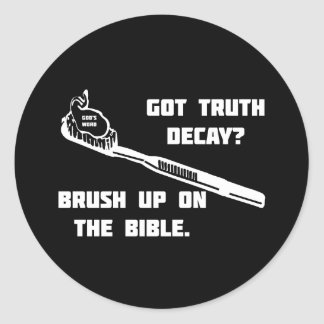 Brush up on the Bible Classic Round Sticker