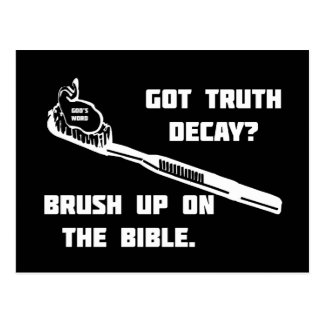 Brush up on the Bible Postcard