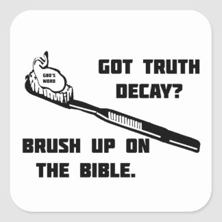 Brush up on the Bible Square Sticker