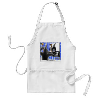 brush W/Death Funny Gifts Tees & Collectibles Adult Apron