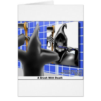 brush W/Death Funny Gifts Tees & Collectibles Card