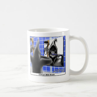 brush W/Death Funny Gifts Tees & Collectibles Coffee Mug
